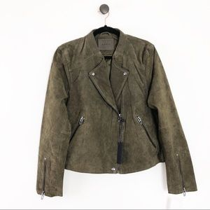 NWT BLANK NYC Suede Moto Jacket